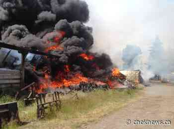 Three barns catch fire north of Courtenay - CHEK