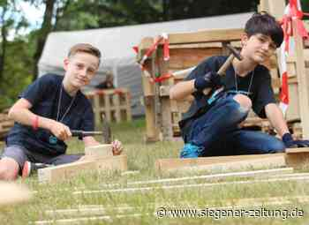 Bauspielplatz Hilchenbach trotzt Corona: Kinder bauen auf Virenschutz - Hilchenbach - Siegener Zeitung