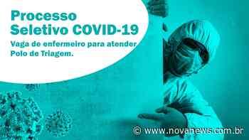 Nova Andradina abre processo seletivo com vaga de enfermeiro para atender Polo de Triagem - Nova News - Nova News