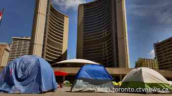 Toronto demonstrators camped out in Nathan Phillips Square issued trespassing orders