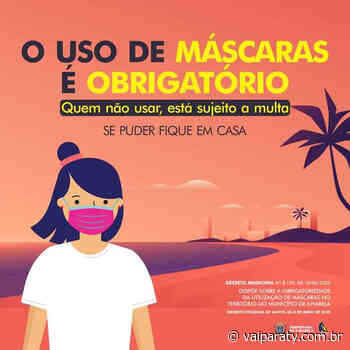 Não seja multado! Uso de máscara em Paraty é obrigatório! - VaiParaty