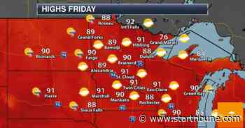 Hot, Sunny, Lake-Worthy 4th of July Weather - Storms Red River Valley - Minneapolis Star Tribune