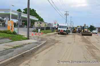 Work crews repair water-main break in Colonie