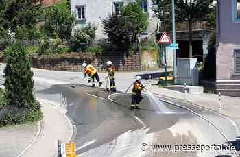 FW Stockach: Mit Schlamm verunreinigte Straße - Presseportal.de