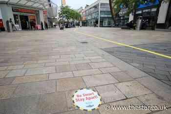 City centre footfall still down as Sheffield fails to bounce back from coronavirus - The Star