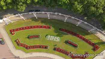 Royal Parks unveils NHS floral display in front of Buckingham Palace - Yahoo News