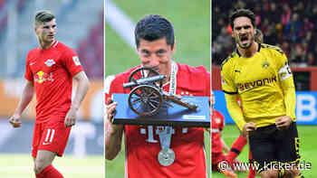 Sechsmal Bayern, einmal Gladbach: Die kicker-Elf der Saison