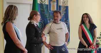 Carsoli saluta il maresciallo Cicone, targa ricordo del Comune al carabiniere - MarsicaLive