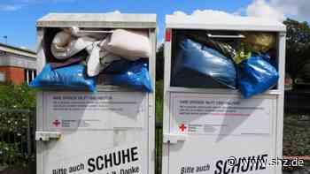 Steinfeld: Unbekannte entsorgen Müll in Kleidercontainern   shz.de - shz.de