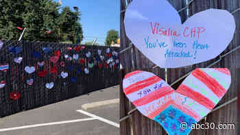 'Heroes work here': Dozens of heart-shaped messages left for Visalia CHP officers