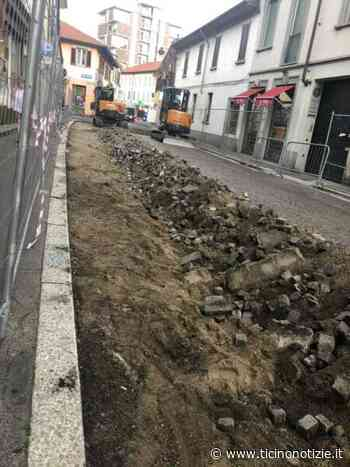 Magenta, via Garibaldi: due giorni e.. 'via' il pavè - Ticino Notizie