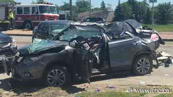 1 person in critical condition after collision near west Perimeter Highway