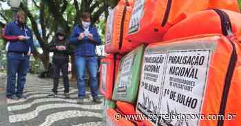 Entregadores de aplicativos protestam em Porto Alegre - Jornal Correio do Povo
