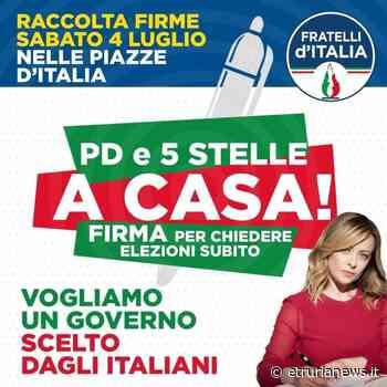 Civitavecchia - Fratelli d'Italia in piazza per chiedere le dimissioni di Conte - Paolo Gianlorenzo