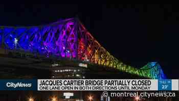 Jacques Cartier bridge partially closed until Monday - CityNews Montreal