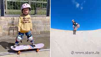 Skate-Video: Dreijährige Autumn verblüfft auf dem Skateboard - STERN.de