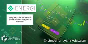 Energi (NRG) Claim they deserve to be listed in Binance in Response to CZ Binance - The Cryptocurrency Analytics