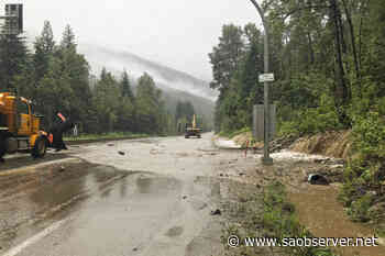 UPDATE: Highway 1 open to single-lane traffic west of Revelstoke due to flooding - Salmon Arm Observer