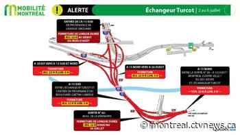 Weekend Traffic: Major closures planned for Metropolitan and Ville-Marie Expressways - CTV News Montreal