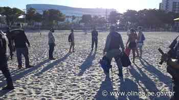Fiscalização é mantida na orla de Olinda e banhistas são orientados a deixar o mar - Prefeitura de Olinda