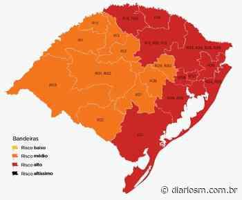 Estado atualiza mapa, e região de Santa Maria segue com bandeira laranja - Diário de Santa Maria
