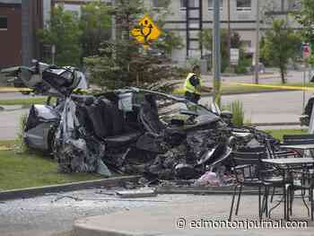 Man charged after three people killed in car crash on Calgary Trail