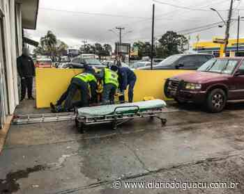 Trabalhador cai de escada e fica ferido em São Miguel do Oeste - Portal DI Online
