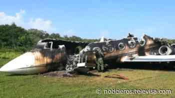 Militares encuentran avioneta incinerada en Mapastepec, Chiapas - Noticieros Televisa