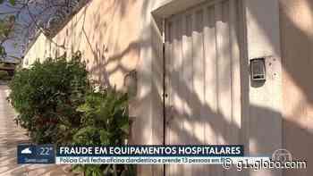 Polícia fecha oficina clandestina que vendia equipamentos hospitalares em Belo Horizonte - G1
