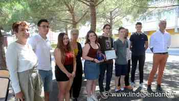 Narbonne : des lycéens de Louise-Michel récompensés pour leur clef USB écologique - L'Indépendant
