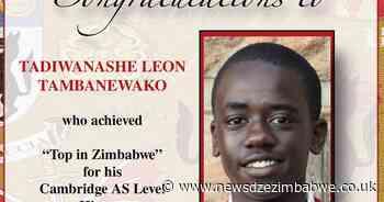 120 ZIM STUDENTS GET CAMBRIDGE OUTSTANDING AWARDS - NewsdzeZimbabwe