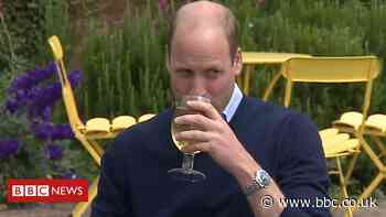 Prince William enjoys cider and chips in Norfolk pub beer garden
