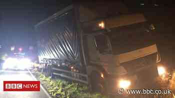 Police hunt gang who jumped from moving lorry on A1(M)