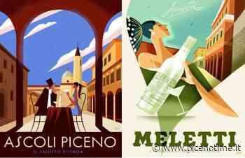 Ascoli Piceno, poster dell'illustratore Guasco per la Ditta Meletti e per la città - picenotime