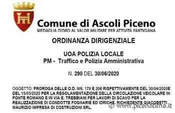 Ascoli Piceno, prorogata ordinanza per circolazione su Ponte Romano e Via Trebbiani - picenotime