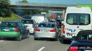 Stau A6 Öhringen/Bretzfeld: Tagsüber staut es sich auf der Autobahn A6 in Richtung Heilbronn - SWP