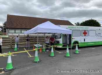 Harwell residents get coronavirus antibody test from bus lab