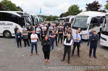 Coaching industry: East Lancs firm Coachways attends Honk for Hope rally