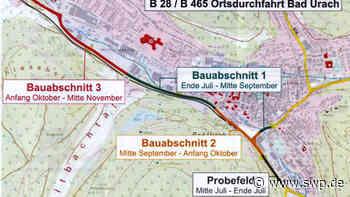 B28 Bad Urach: B28 durch Bad Urach wegen Belagsarbeiten ab Ende Juli teilweise gesperrt - SWP