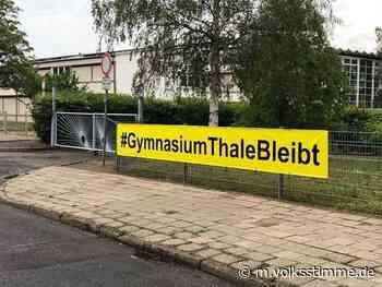Gymnasium Thale votiert für Blankenburg - Volksstimme