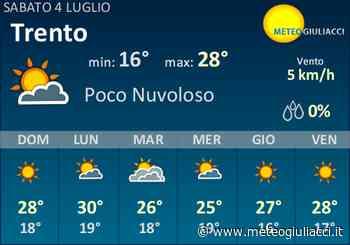 Meteo Trento: Previsioni fino a Lunedi 6 Luglio - MeteoGiuliacci