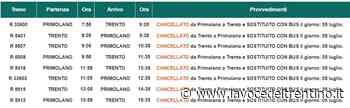 Linea Trento-Primolano: domenica 5 luglio sostituiti alcuni treni con autobus - la VOCE del TRENTINO