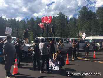 Protesters arrested near Mount Rushmore ahead of tonight's Trump event