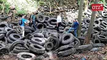 Reifenberge verschwinden aus dem Wald