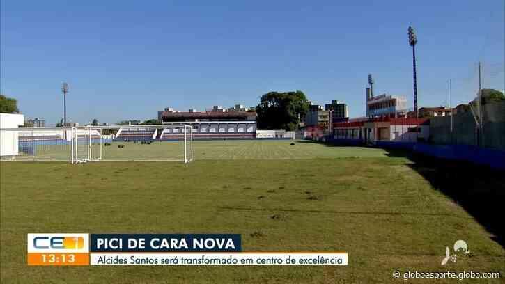 """Ajuda de Ceni e da torcida: """"nova casa"""" do Fortaleza tem obras adiantadas; veja vídeo - globoesporte.com"""