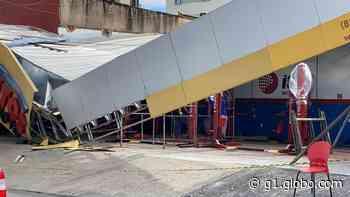 Fachada de centro automotivo desaba em Fortaleza - G1