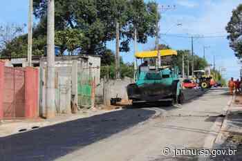 Secretaria de obras retoma pavimentação da Firenze - Prefeitura Municipal de Jarinu