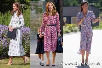 High street haul: Duchess of Cambridge inspired floral frocks under £100 - Evening Standard