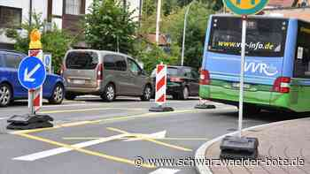 Schramberg: Paradiesplatz: Gegenverkehr schon nächste Woche - Schramberg - Schwarzwälder Bote