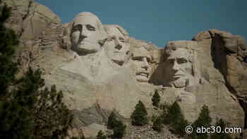 At Mount Rushmore, Trump denounces tearing down of monuments, announces plans for vast statue park
